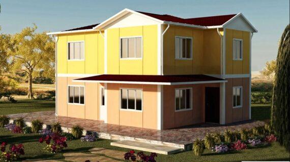 142 m2 Çift Katlı Prefabrik Ev