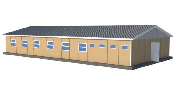 181 m2 Prefabrik Mühendis Yatakhane