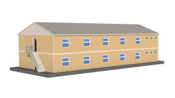406 m2 Prefabrik Mühendis Yatakhane