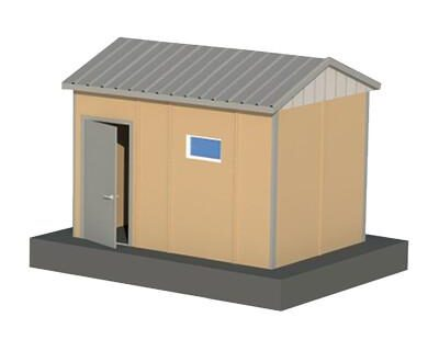 9 m2 Prefabrik WC Duş