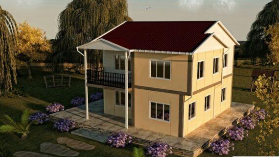 150 m2 Çift Katlı Prefabrik Ev